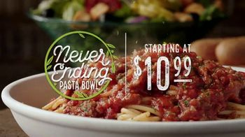 Olive Garden Never Ending Pasta Bowl TV Spot, 'Over 100 Combinations' - Thumbnail 3