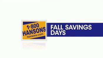 1-800-HANSONS Fall Savings Days TV Spot, 'Triple-Pane Windows' - Thumbnail 2