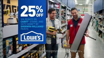 Lowe's TV Spot, 'Game-Changer: 25 Percent Off Paints & Stains' - Thumbnail 10