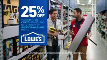 Lowe's TV Spot, 'Game-Changer: 25 Percent Off Paints & Stains' - Thumbnail 9
