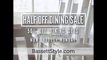 Bassett Half Off Dining Sale TV Spot, 'Start the Season' - Thumbnail 7
