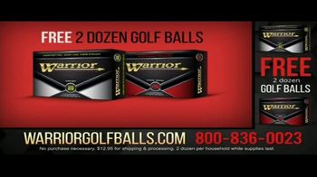 Warrior Custom Golf TV Spot, 'Exclusive Golf Balls' - Thumbnail 1