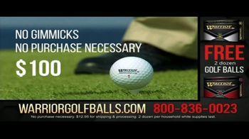 Warrior Custom Golf TV Spot, 'Exclusive Golf Balls' - Thumbnail 3