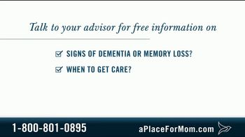 A Place For Mom TV Spot, 'Memory Care' Featuring Joan Lunden - Thumbnail 7