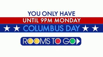 Rooms to Go Columbus Day TV Spot, 'Six Days to Shop'