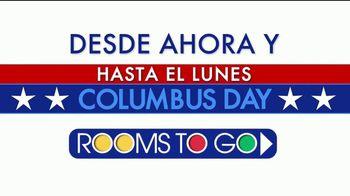 Rooms to Go Columbus Day TV Spot, 'Seis días para comprar' [Spanish]