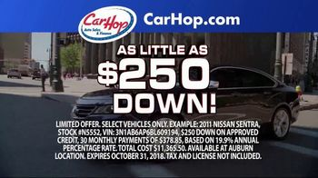 CarHop Auto Sales & Finance TV Spot, 'No Fees Ever: $250 Down'