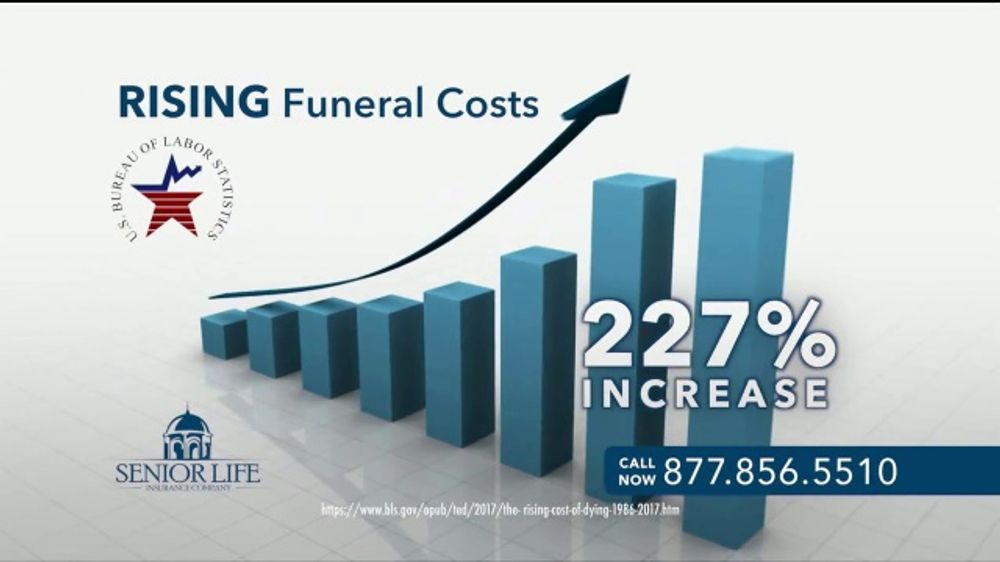 Senior Life Insurance Company Senior Life Plan TV Commercial, 'Rising Funeral Cost'