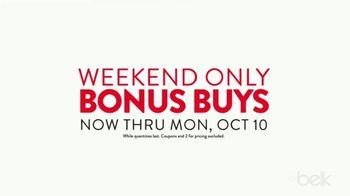 Belk Columbus Day Sale TV Spot, 'Weekend Bonus Buys'