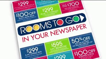 Rooms to Go TV Spot, 'Coupons in Your Newspaper'