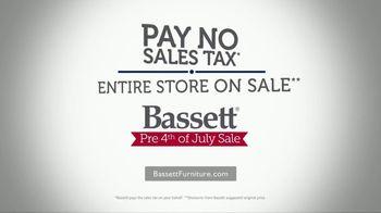 Bassett Pre 4th of July Sale TV Spot, 'Pay No Sales Tax' - Thumbnail 9
