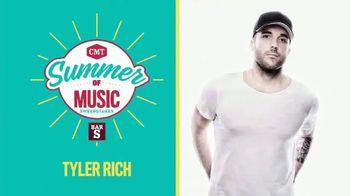 2018 CMT Summer of Music Sweepstakes TV Spot, 'Tyler Rich' - Thumbnail 4