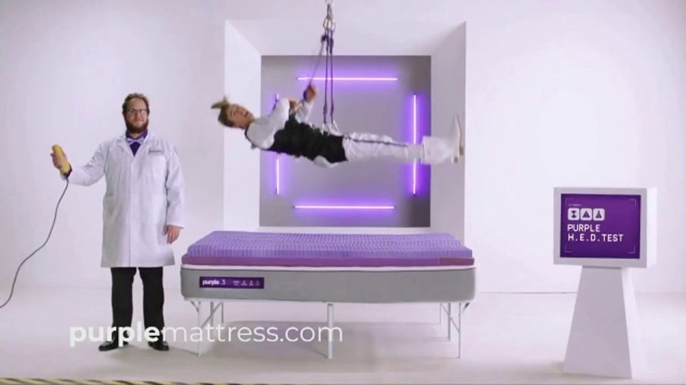 Purple Mattress Tv Commercial The Human Egg Drop Test