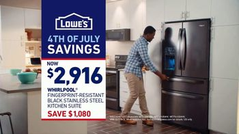 Lowe's 4th of July Savings TV Spot, 'The Moment: New Fridge' - Thumbnail 10
