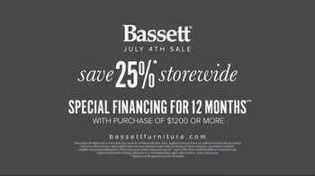 Bassett July 4th Sale TV Spot, 'Simply: Special Financing' - Thumbnail 10