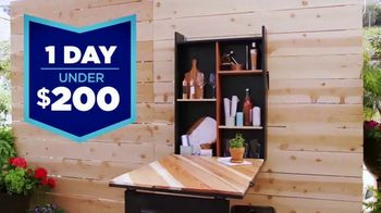 Lowe's TV Spot, 'HGTV: Fold-Down Bar'