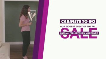 Cabinets To Go Annual Fall Kitchen Makeover Sale TV Spot, 'Kitchen Remodel' - Thumbnail 3