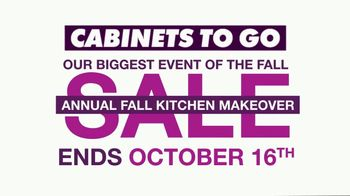 Cabinets To Go Annual Fall Kitchen Makeover Sale TV Spot, 'Kitchen Remodel'