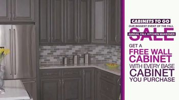 Cabinets To Go Annual Fall Kitchen Makeover Sale TV Spot, 'Kitchen Remodel' - Thumbnail 5