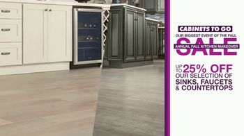 Cabinets To Go Annual Fall Kitchen Makeover Sale TV Spot, 'Kitchen Remodel' - Thumbnail 6