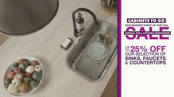 Cabinets To Go Annual Fall Kitchen Makeover Sale TV Spot, 'Kitchen Remodel' - Thumbnail 7