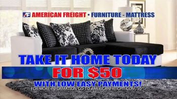 American Freight Inventory Closeout Sale TV Spot, 'Take It Home Today'