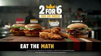 Burger King Crispy Chicken Tenders TV Spot, 'Math Chicken Tender +++' - Thumbnail 8