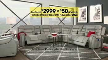 Rooms to Go Holiday Sale TV Spot, 'Reclining Leather Sectional' - Thumbnail 3