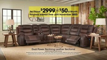 Rooms to Go Holiday Sale TV Spot, 'Reclining Leather Sectional' - Thumbnail 4