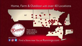 Runnings Black Friday Weekend Sale TV Spot, 'Garage Heater, Drill Kit and Outwear' - Thumbnail 8