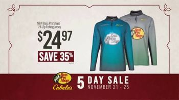 Bass Pro Shops 5 Day Sale TV Spot, 'Jerseys, Fishing Combos & Meat Processing'