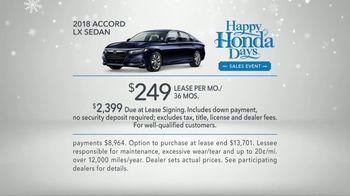 Happy Honda Days TV Spot, '2018 Holidays: Six Million Dollar Man' [T2] - Thumbnail 9