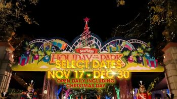 Six Flags Cyber Sale TV Spot, 'Holiday in the Park: 65 Percent Off' - Thumbnail 1