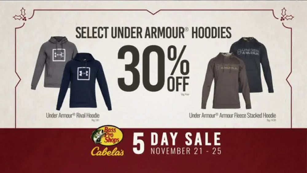 Bass Pro Shops 5 Day Sale TV Commercial, 'Hoodies and Lowrance Fishfinder'  - Video