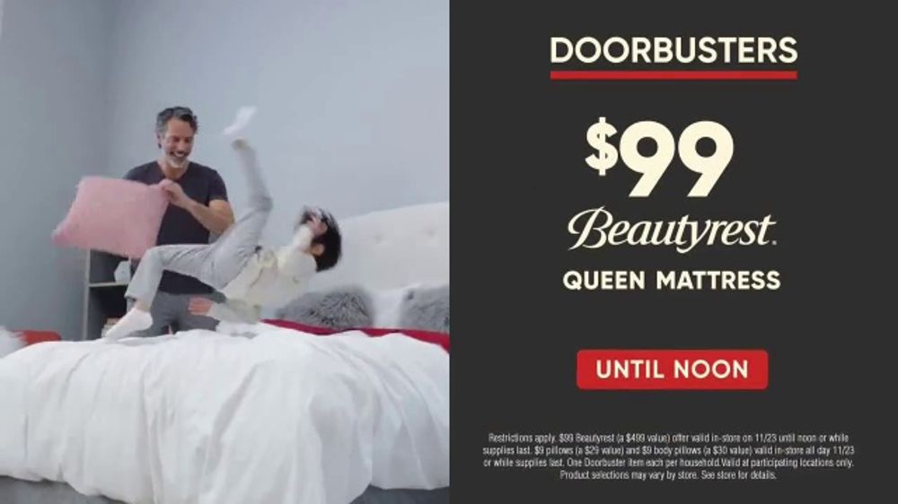 Mattress Firm Black Friday Doorbusters Tv Commercial Until Noon Video