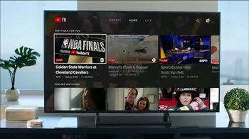 YouTube TV TV Spot, 'NBA Finals' Featuring Kevin Durant, Song by Cardi B - Thumbnail 10