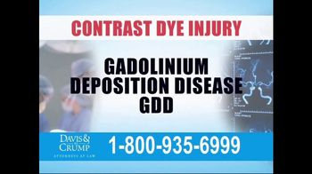Davis & Crump, P.C. TV Spot, 'Contrast Dye Injury' - Thumbnail 2