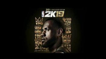 NBA 2K19 TV Spot, '20th Anniversary Edition: G.O.A.T.' - 4 commercial airings