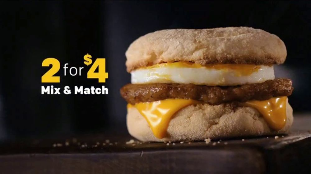 McDonald's 2 for $4 Breakfast Sandwiches TV Commercial, 'Add Hash Browns' -  Video