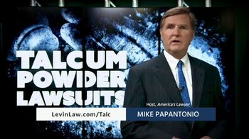 Levin Law TV Spot, 'Talcum Powder' - Thumbnail 2