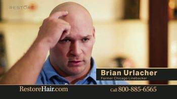 Restore Hair TV Spot, 'Shocked' Featuring Brian Urlacher - Thumbnail 2
