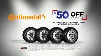 Tire Kingdom Big Brands Bonus Month TV Spot, 'Continental Tires Rebate' - Thumbnail 3