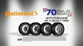 Tire Kingdom Big Brands Bonus Month TV Spot, 'Continental Tires Rebate' - Thumbnail 4
