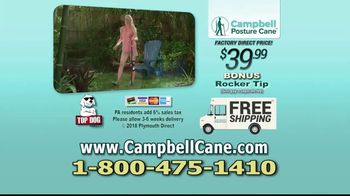 Campbell Posture Cane TV Spot, 'Upright and Secure' - Thumbnail 10