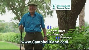 Campbell Posture Cane TV Spot, 'Upright and Secure' - Thumbnail 4
