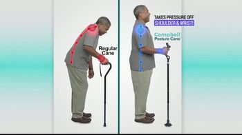 Campbell Posture Cane TV Spot, 'Upright and Secure' - Thumbnail 5