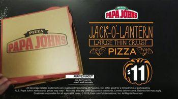 Papa John's Jack-O'-Lantern Pizza TV Spot, 'Halloween Party Offers' - Thumbnail 5