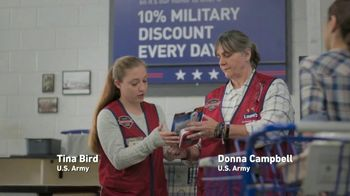 Lowe's TV Spot, 'Military Roots: Thank You' - Thumbnail 6