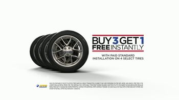 National Tire & Battery TV Spot, 'Buy Three Tires, Get One Free: Rebate'