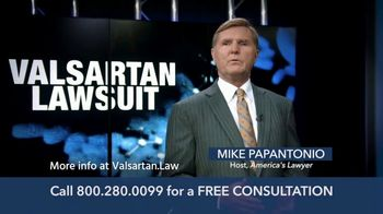 Levin Law TV Spot, 'Valsartan Lawsuit'